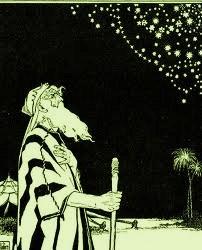 """Entonces llevó [a Avram] afuera y dijo: """"Mira el firmamento y cuenta las estrellas. Ve si puedes contarlas"""". [Dios] entonces le dijo: """"Así es cuán [numerosos] serán tus descendientes"""""""