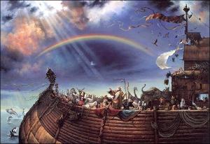 El fin del diluvio: el pacto y el arco iris