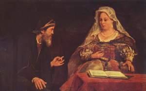 """""""Mordejai y Esther"""" por Aert de Gelder"""