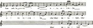 Canción del Arizal para shabat, en Arameo