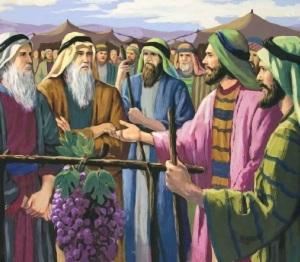 Los espias vuelven con el pueblo de ísrael