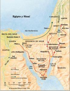 Una ilustración de los viajes de israel en sinaí.