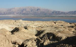 El paisaje visto desde el monte de Sdóm, hoy en dia