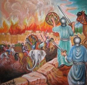 La lucha entre los judíos y los griegos