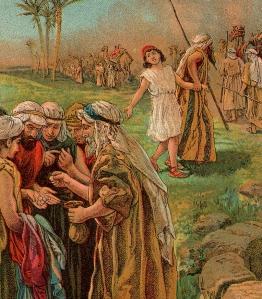 El mo,ento mas duro. Joseph se vende a los ismaelitas.