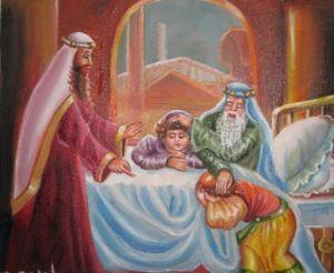 La bendición de Efraim y Menashe, los hijos de Yosef